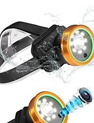 Недорогие -светодиодные фары камеры блики зарядки водонепроницаемый ipx-4 налобный фонарик супер яркий рыболовный метр небольшой гелиевый светильник 3000
