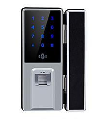 Недорогие -офисная стеклянная дверь замок отпечатков пальцев смарт-замок пароль сингл один двойной открытый электронный пульт дистанционного управления дверной замок
