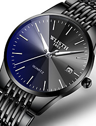 cheap -Men's Dress Watch Quartz Formal Style Stylish Stainless Steel Black / Silver 30 m Calendar / date / day Noctilucent Analog Luxury Fashion - Black Black / Blue Black / Silver One Year Battery Life