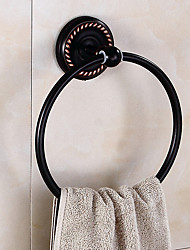 cheap -Towel Bar Foldable / Creative Antique / Traditional Brass / Stainless Steel / Iron Bathroom / Hotel bath towel ring Wall Mounted