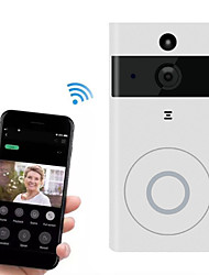 abordables -bâtiment surveillance vidéo voix interphone sans fil maison intelligente wifi application mobile logiciel sonnette intelligente