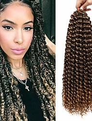 cheap -Twist Braids Afro Kinky Braids Curly Braids Curly Box Braids Natural Color Synthetic Hair Braiding Hair 3-Pack Heat Resistant Ombre Hair