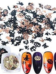 cheap -120 pcs 3D Interface / Universal Metal Alloy Nail Jewelry For Finger Nail Bat Bell nail art Manicure Pedicure Halloween European