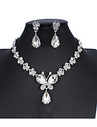cheap -Women's White Bridal Jewelry Sets Link / Chain Butterfly Luxury Unique Design Elegant Earrings Jewelry Silver For Wedding Party Engagement Holiday Festival 1 set