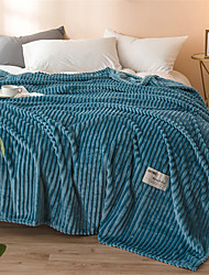 cheap -Bed Blankets, Solid Colored / Simple Polyester Comfy Blankets