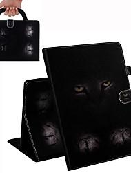Недорогие -чехол для apple ipad mini 3/2/1 / ipad mini 4 / ipad mini 5 кошелек / визитница / противоударный чехол для всего тела сплошной цвет / кошачий PU кожаный чехол для apple ipad mini 3/2/1 / ipad mini 4 /