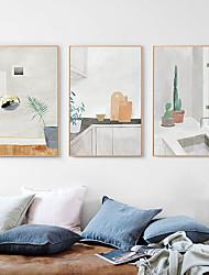 cheap -Framed Canvas - Still Life PS Oil Painting Wall Art