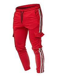 cheap -Men's Basic EU / US Size Chinos / Sweatpants Pants - Multi Color Classic Dark Gray Army Green Light gray US34 / UK34 / EU42 US38 / UK38 / EU46 US40 / UK40 / EU48 / Drawstring / Elasticity