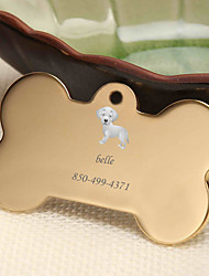 cheap -Personalized Customized Golden Retriever Dog Tags Classic Gift Daily 1pcs Gold Silver Rose Gold