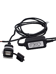 cheap -12/24V Motorcycle/Car/Rv Mobile Phone Charger Universal Dual USB Waterproof Charger ModelsCS-542A1