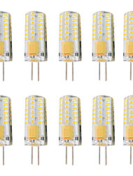 cheap -10pcs 3 W LED Bi-pin Lights 300 lm G4 T 48 LED Beads SMD 3014 Dimmable Warm White White 12-24 V