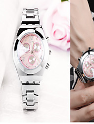 cheap -Women's Steel Band Watches Quartz Stainless Steel Silver Creative Luminous Analog Classic - Pink