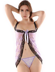 cheap -Women's Lace / Backless Garters & Suspenders Nightwear Solid Colored Purple One-Size / Strap