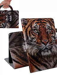 cheap -Case For iPad Air / iPad 4/3/2 / iPad (2018) Wallet / Card Holder / Shockproof Full Body Cases Siberian Tigers PU Leather Case For iPad Air 2 / iPad (2017) / iPad Pro 9.7