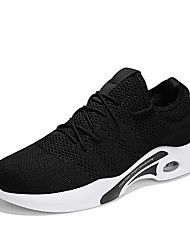 cheap -Men's Light Soles Tissage Volant Spring / Fall Sporty / Casual Athletic Shoes Running Shoes / Walking Shoes Breathable Black / Black / White / Gray / Shock Absorbing / Wear Proof
