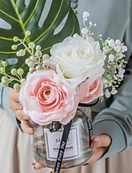 cheap -Artificial Flowers 1 Branch Classic Modern Eternal Flower Vase