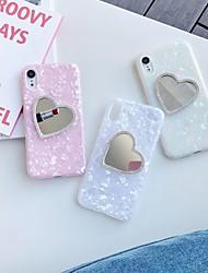 Недорогие -чехол для яблока iphone xs / iphone xr / iphone xs max зеркало / шаблон задняя крышка сердце тпу для iphone 6 6 плюс 6s 6s плюс 7 8 7 плюс 8 плюс x xs