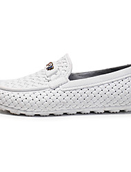 cheap -Men's Comfort Shoes Faux Leather / Synthetics Spring & Summer / Fall & Winter Sporty / Preppy Loafers & Slip-Ons Running Shoes / Walking Shoes Breathable Black / White / Dark Blue