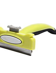 Недорогие -Собаки Чистка Продукт для удаления волос Шеддинг Инструменты пластик Расчески Чехол в комплекте Животные Товары для ухода за животными Желтый