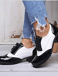 cheap -Unisex Flats Flat Heel Round Toe PU(Polyurethane) Booties / Ankle Boots Summer Black / Black / White / Brown