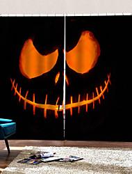 cheap -Happy Halloween Theme Devil Background Curtains Heat Insulation Custom Rod Set Curtain New 3D Printing Hd Fade-proof Curtain