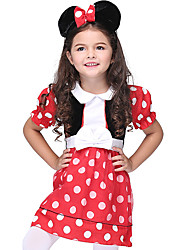 cheap -Movie / TV Theme Costumes Princess Cookie Anime Dress Party Costume Masquerade Flower Girl Dress Kid's Girls' A-Line Slip Active Halloween Halloween School Dress Halloween Children's Day New Year