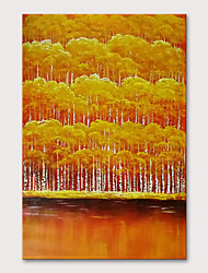 cheap -Oil Painting Hand Painted - Floral / Botanical Abstract Landscape Modern Rolled Canvas