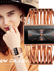 cheap -Women's Quartz Watches Fashion Elegant Silver Gold Rose Gold Stainless Steel Quartz Rose Gold White+Golden Gold Casual Watch 1 pc Analog One Year Battery Life