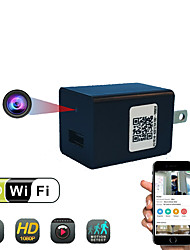 Недорогие -HD 1080p беспроводная мини-камера настенный адаптер Wi-Fi зарядное устройство видео камеры безопасности
