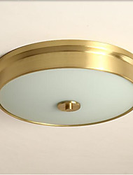 cheap -4-Light Modern Simple Ceiling Light Flush Mount Lights Round Shade Ambient Light Copper for Bedroom Living Room