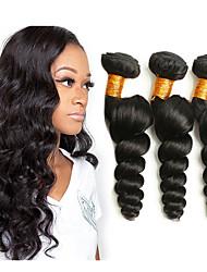 Недорогие -3 Связки Малазийские волосы Свободные волны Не подвергавшиеся окрашиванию человеческие волосы Remy 150 g Человека ткет Волосы Удлинитель Пучок волос 8-28 дюймовый Нейтральный Ткет человеческих волос