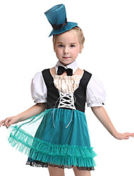 cheap -Princess Outfits Kid's Girls' Halloween Halloween Festival / Holiday Spandex Polyester / Polyamide Black Carnival Costumes