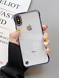 cheap -Case For Apple iPhone XS / iPhone XR / iPhone XS Max Plating Back Cover Transparent PC