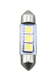 cheap -White Car Auto 36mm 5050 Chip 3-SMD Reading Lights Festoon Dome LED Light Bulbs
