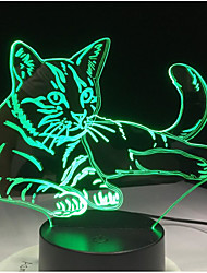 cheap -3D Nightlight For Children Creative Birthday USB 1pc