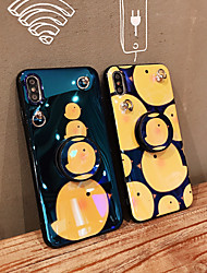 cheap -Case For Apple iPhone XS / iPhone XR / iPhone XS Max Dustproof / with Stand / IMD Back Cover Animal / Cartoon PC