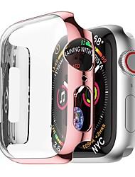 Недорогие -совместим с корпусом для часов Apple серии 4 44 мм 40 мм ультратонкий бампер с покрытием из ПК с прозрачной защитной пленкой для экрана с полной крышкой тонкий легкий корпус совместимый iwatch