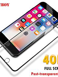 Недорогие -40d полностью закаленное стекло на для iphone 6 6s 7 8 плюс x 10 Защитная пленка для стекла Мягкий край изогнутый для пленки iphone xr xs max