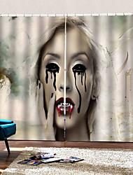 abordables -nouveau rideau d'horreur de style thaïlandais sur le marché lune nuit fantôme partie décorative polyester rideau en tissu ombre