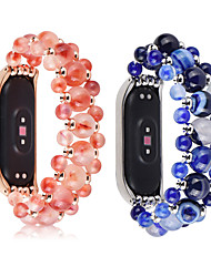 cheap -Crystal Beads Agate Chain Strap For Millet 3 4 Smart Wristband Handicraft Mi Band Bracelet Replacement Part
