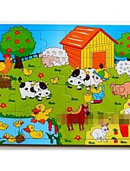 cheap -16Pcs/Lot Wooden Jigsaw Puzzle Educational Toys (Random Color)