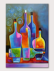 cheap -Oil Painting Hand Painted Vertical Still Life Modern Rolled Canvas (No Frame)