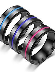 cheap -Men's Women's Band Ring Ring Tail Ring 1pc Purple Blue Pink Stainless Steel Circular Vintage Basic Fashion Gift Jewelry