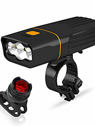 cheap -LED Bike Light Front Bike Light LED Bicycle Cycling Waterproof Rotatable Portable Quick Release Rechargeable Li-Ion Battery 2400 lm Battery operated Rechargeable Power 18650 lithium battery White