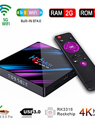 cheap -H96 Max Smart Android 9.0 TV Box RK3318 Quad Core 64 Bit UHD 4K VP9 H.265 2GB / 16GB 2.4G / 5G WiFi BT4.0 HD Media Player TV Box