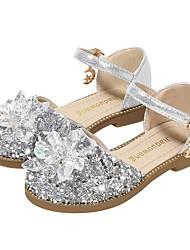 cheap -Girls' Flower Girl Shoes Microfiber Heels Little Kids(4-7ys) Rhinestone Pink / Gold / Silver Summer