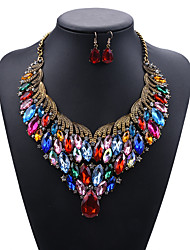cheap -Women's Necklace Earrings Earrings Jewelry Red / Rainbow For Daily School Street Holiday Festival Two-piece Suit