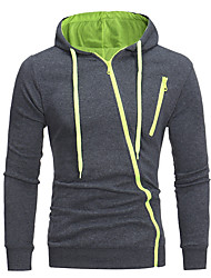 cheap -Men's Hoodie Jacket Solid Colored Hooded Basic Hoodies Sweatshirts  White Black Light gray