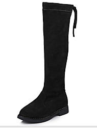 cheap -Girls' Comfort Suede Boots Big Kids(7years +) Black / Coffee / Red Winter / Knee High Boots