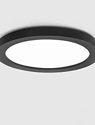 cheap -1-Light LED Ceiling Light Modern Round Flush Mount Lights Ambient Light Painted Finishes Metal